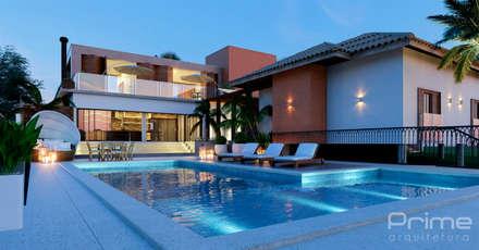 Piscinas de jardín de estilo  por Prime Arquitetura