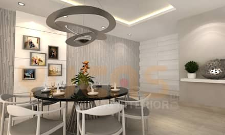 double storey house in cheras: modern Dining room by Yucas Design & Build Sdn. Bhd.
