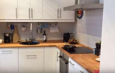 Кухня в современном стиле в холодных тонах: Встроенные кухни в . Автор – Design Int Style