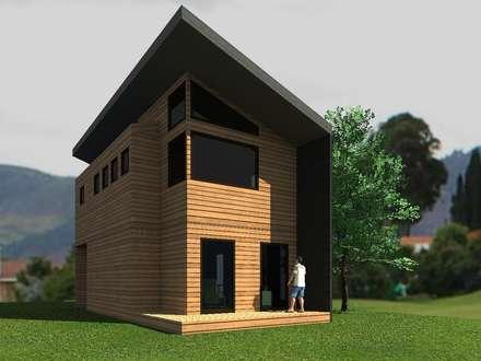 Casa Malalcahuello (2): Casas ecológicas de estilo  por Casabella