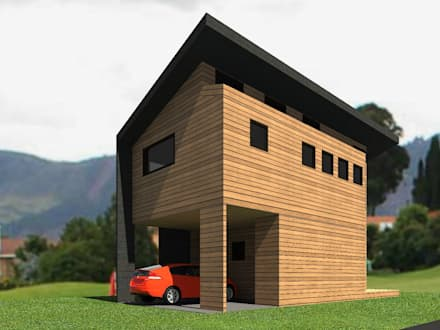 منزل خشبي تنفيذ Casabella