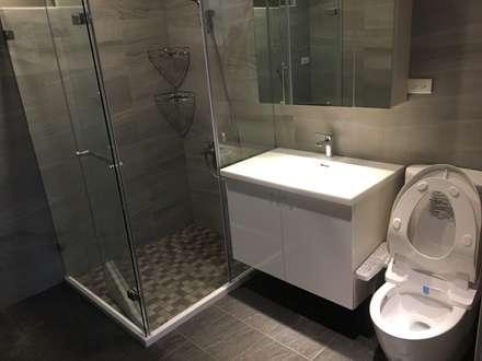 五股中興路設計案 整體穿透 提升豪華價值:  浴室 by 捷士空間設計