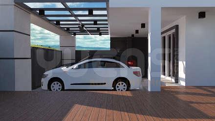 Garajes abiertos de estilo  por Yucas Design & Build Sdn. Bhd.