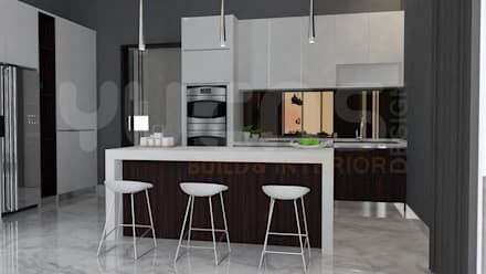bungalow at segambut: modern Kitchen by Yucas Design & Build Sdn. Bhd.