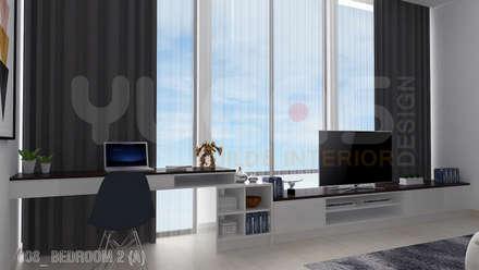 bungalow at segambut: modern Bedroom by Yucas Design & Build Sdn. Bhd.