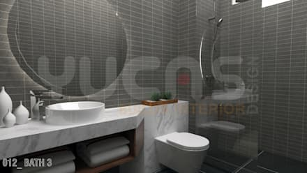bungalow at segambut: modern Bathroom by Yucas Design & Build Sdn. Bhd.