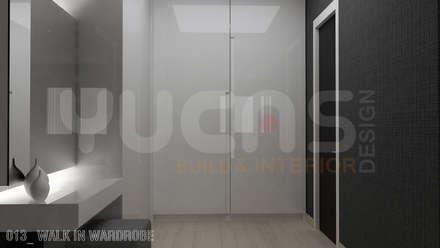 bungalow at segambut: modern Dressing room by Yucas Design & Build Sdn. Bhd.