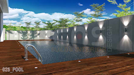bungalow at segambut: modern Pool by Yucas Design & Build Sdn. Bhd.