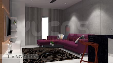 condo at mahkota cheras: scandinavian Living room by Yucas Design & Build Sdn. Bhd.