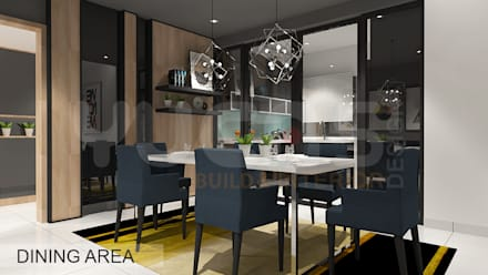 condo at mahkota cheras: scandinavian Dining room by Yucas Design & Build Sdn. Bhd.