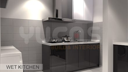 condo at mahkota cheras: scandinavian Kitchen by Yucas Design & Build Sdn. Bhd.