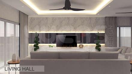 Semi-D at Jln Ipoh: asian Living room by Yucas Design & Build Sdn. Bhd.