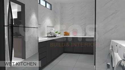 Semi-D at Jln Ipoh: asian Kitchen by Yucas Design & Build Sdn. Bhd.