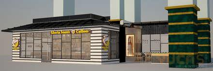 Espacios comerciales de estilo  por Yucas Design & Build Sdn. Bhd.