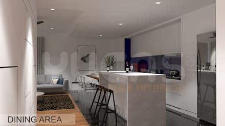 Aroris Condo at Mont Kiara: modern Kitchen by Yucas Design & Build Sdn. Bhd.