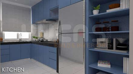 skypark Condo at Saujana Putra: minimalistic Kitchen by Yucas Design & Build Sdn. Bhd.