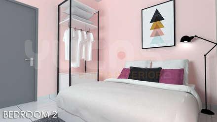 skypark Condo at Saujana Putra: minimalistic Bedroom by Yucas Design & Build Sdn. Bhd.