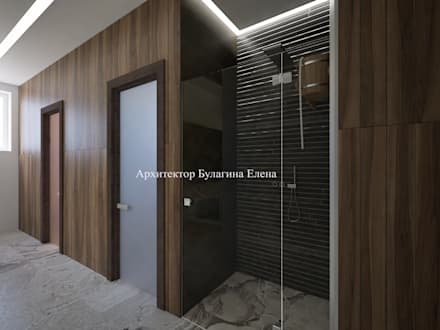 Spa de estilo ecléctico por Архитектурное Бюро 'Капитель'