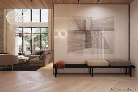 INSIDE THE MODERN HOUSE: minimalistische Ankleidezimmer von Tobi Architects