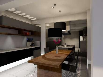 Diseño Cocina: Cocinas integrales de estilo  por A/K Arquitectura