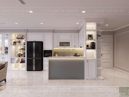 Vinhomes Golden River đẳng cấp với phong cách thiết kế Tân Cổ Điển:  Nhà bếp by ICON INTERIOR