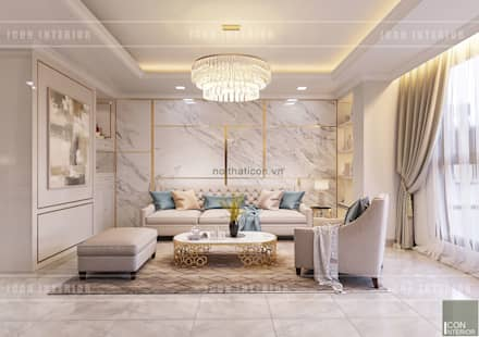 classic Living room by ICON INTERIOR