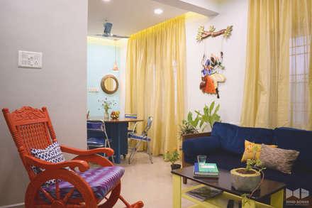 N duplex: minimalistic Living room by Mind bower Interior design studio