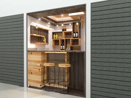 Mini Bodegon3: Espacios comerciales de estilo  por Pinto Arquitectura