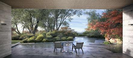 Casa Davis, Juan Grimm landscape artist: Jardines de estilo asiático por Light Syndrome
