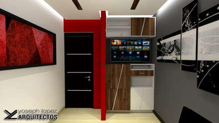 Diseño de Oficina Urb. La Arboleda: Oficinas de estilo moderno por arqyosephlopez