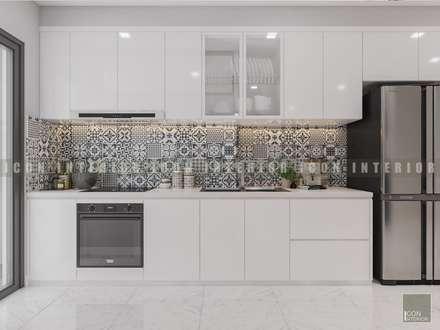 Vẻ đẹp thanh lịch đến từ sự đơn giản - Phong cách thiết kế hiện đại:  Nhà bếp by ICON INTERIOR