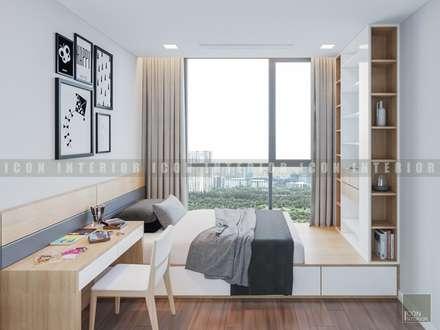 Vẻ đẹp thanh lịch đến từ sự đơn giản - Phong cách thiết kế hiện đại:  Phòng ngủ by ICON INTERIOR