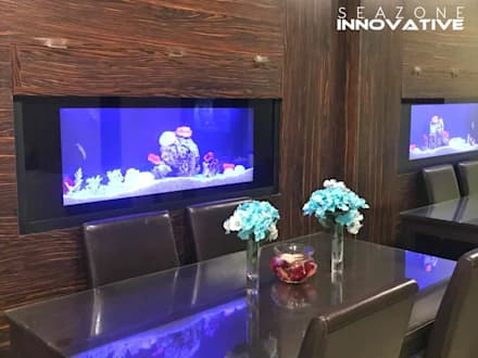 Aquarium Divider - 4 feet crystal black : modern Living room by Seazone Innovative Sdn Bhd