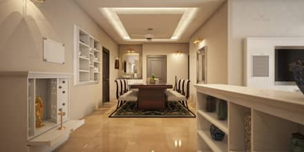 asian Dining room by Monnaie Interiors Pvt Ltd