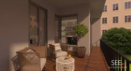 Living Room: Terraços  por See - 3D & Virtual Tour
