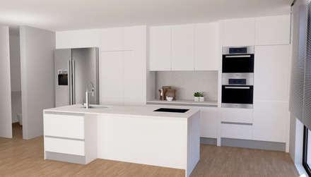 Cozinha: Armários de cozinha  por IAM Interiores