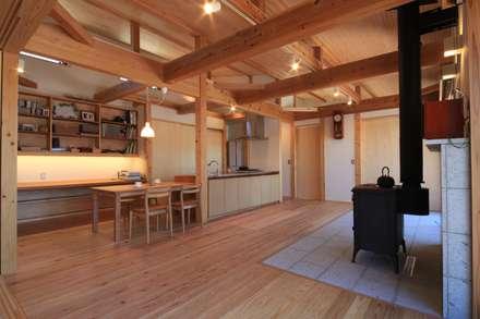 高床の家: 田村建築設計工房が手掛けたリビングです。