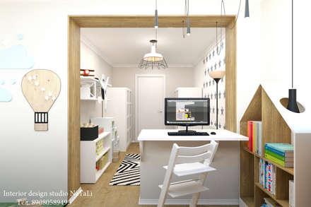 ห้องนอนเด็ก by Interior design studio NaTaLi ( Студия дизайна интерьера Натали)