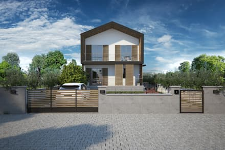 Casas unifamiliares de estilo  por yücel partners