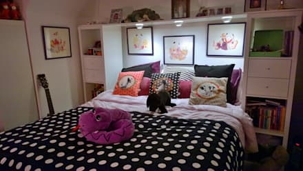 Injecting colour and style in interiors: eclectic Bedroom by Belle & Cosy Interior Design