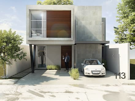 Detached home by Grupo PAAR Arquitectos