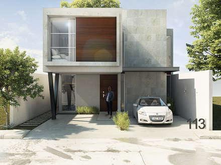 Fachada: Casas unifamiliares de estilo  por Grupo PAAR Arquitectos