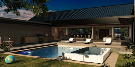 Piscinas de jardín de estilo  por Grupo PAAR Arquitectos