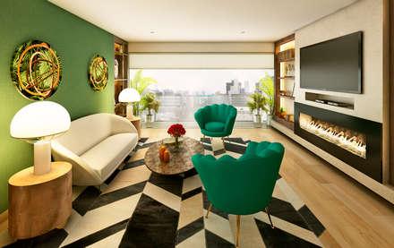 Proyecto PR: Salas / recibidores de estilo moderno por Luis Escobar Interiorismo