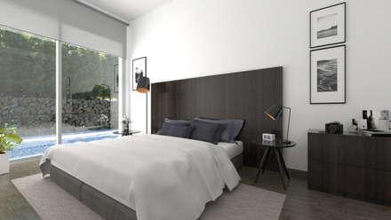 Dormitorio principal: Dormitorios de estilo moderno de Pacheco & Asociados
