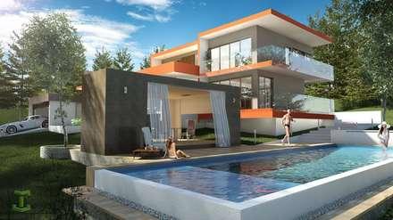 Piscinas de jardín de estilo  por Eutopia Arquitectura