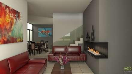 Casa MV: Salas de estilo moderno por Eutopia Arquitectura