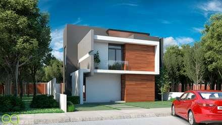 Fincas de estilo  por Eutopia Arquitectura