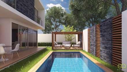 สระในสวน by Eutopia Arquitectura