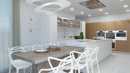 : Cocinas equipadas de estilo  por Rendering All